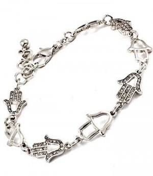 Hamsa Hand Link Bracelet