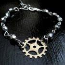 Steampunk Gear Bracelet, Industrial