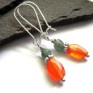 Carnelian Aventurine Dangle Earrings
