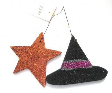 Witch Hat & Star Ornament