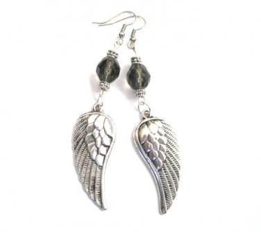 Gothic Angel Wings Dangle Earrings