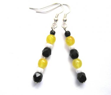 Boston Bruins Colors Dangle Earrings