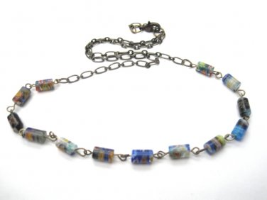 Millefiore Beaded Necklace