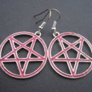 Pentagram Pink Earrings