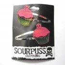 Spooky Skull Cupcake Barrettes