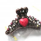 Heart Crystal Hair Clip