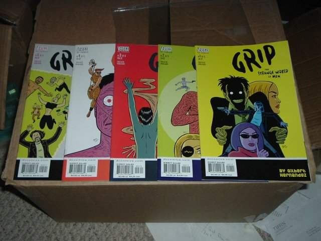 Grip: The Strange World Of Men #1-5 COMPLETE SET by Gilbert 'Love & Rockets' Hernandez