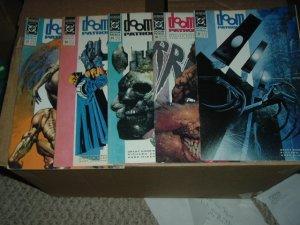 Doom Patrol #37, 38, 39, 40, 41 (#37-41 RUN) Grant Morrison scripts, DC Comics (before Vertigo)