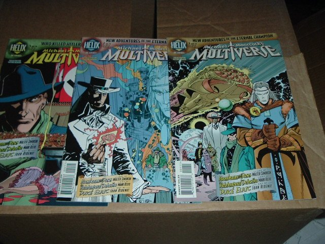 Michael Moorcock's Multiverse #1, 2, 3 (#1-3 RUN) DC/Helix Comics featuring Elric & more