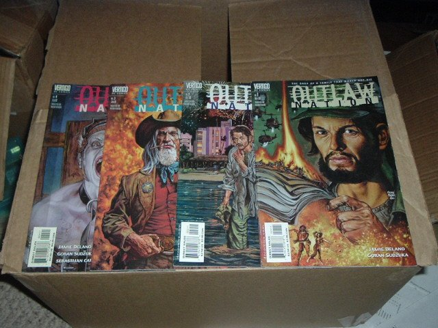Outlaw Nation #1, 2, 3, 4 (#1-4 RUN) DC Vertigo Comics.  SAVE $$$ with combined shipping.