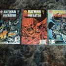 Batman versus Predator #1, 2, 3 FULL SET FIRST PRINTS DC Comic books NEAR MINT, Save $$$$ Shipping