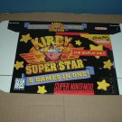 "BRAND NEW Kirby: Super Star ""FOR DISPLAY ONLY"" Authentic SNES Game Box RARE Superstar FOR SALE"