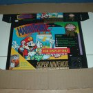 "BRAND NEW Mario Paint ""FOR DISPLAY ONLY"" Authentic SNES Game Box, VERY RARE item FOR SALE"