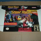 "BRAND NEW Stunt Race FX ""FOR DISPLAY ONLY"" Authentic SNES Game Box, VERY RARE item FOR SALE"