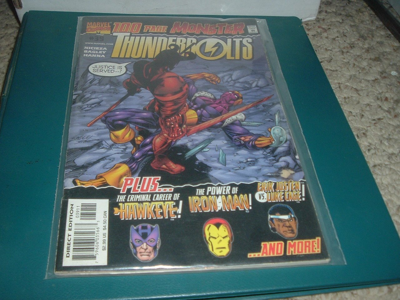 Thunderbolts #39 100-Page Monster sized special (Marvel Comics 2000) Nicieza, Bagley, comic for sale