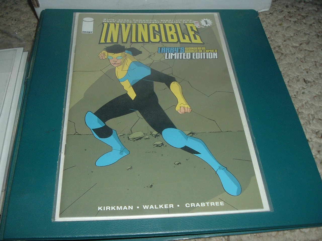 Invincible #1 NEAR MINT 1st Print (Image Comics) Larry's WW Convention Variant edition for sale