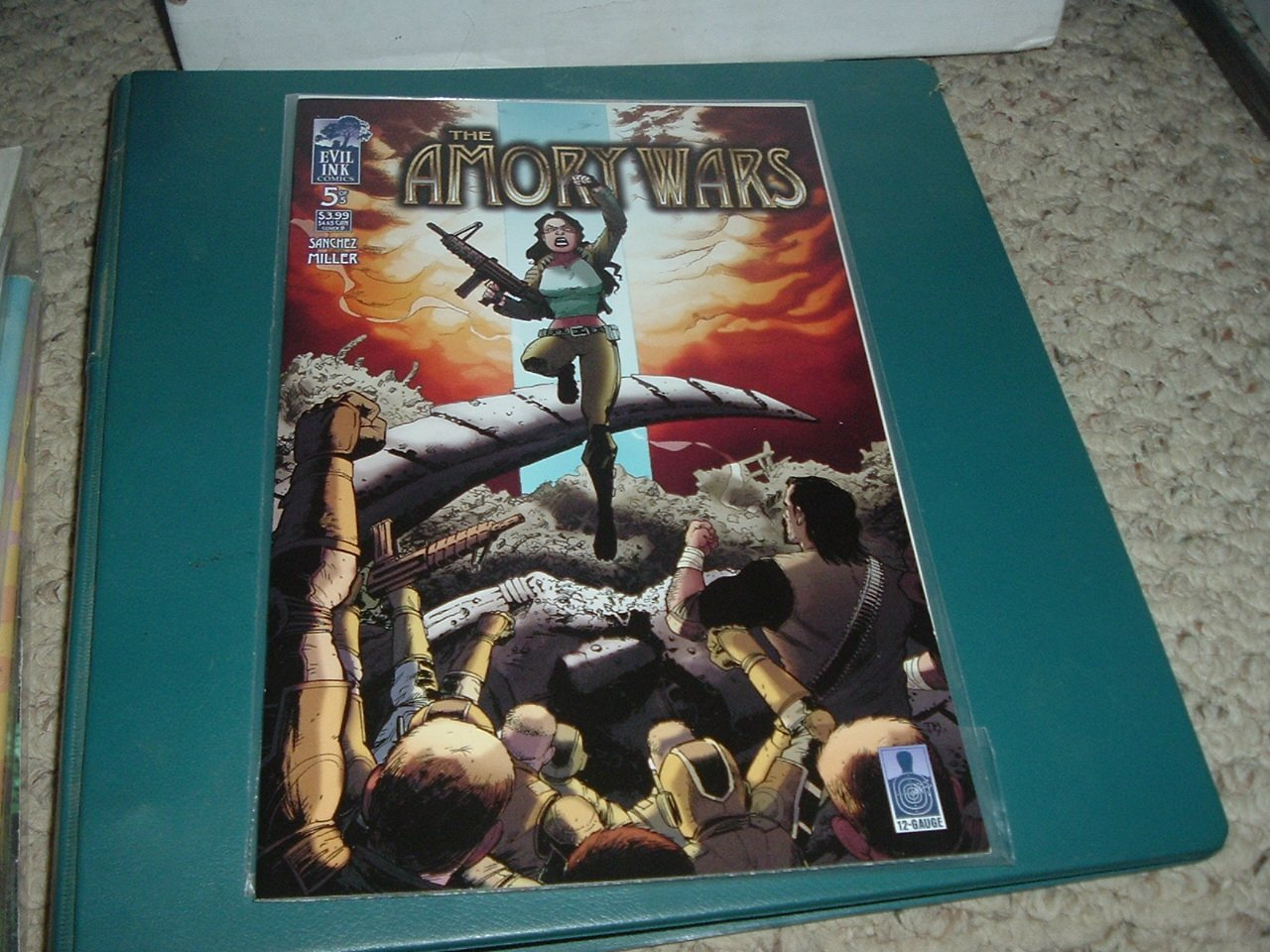 NEAR MINT- Amory Wars #5 (volume 1) RARE Evil Ink Cover Edition B Second Stage Turbine Blade