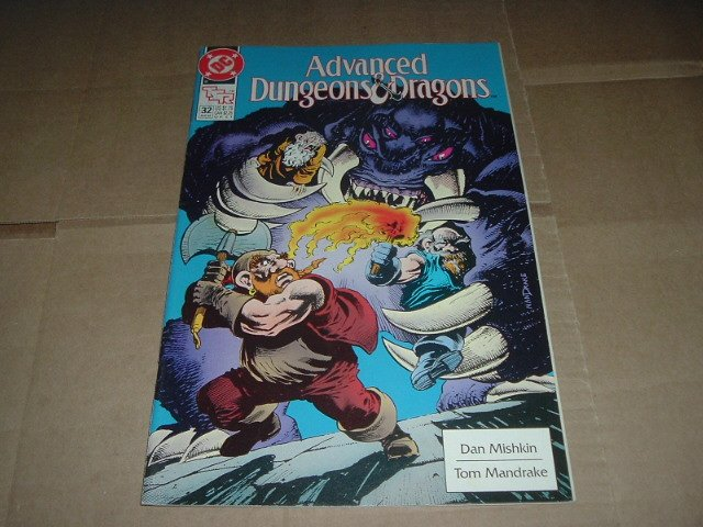 Advanced Dungeons & Dragons #32 VF- Tom Mandrake art (DC Comics 1991 TSR) Save $$ Shipping Special