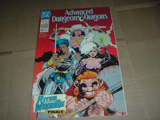 FINAL ISSUE: Advanced Dungeons & Dragons #36 VERY FINE (DC Comics 1991 TSR) Save $ Flat Ship Special