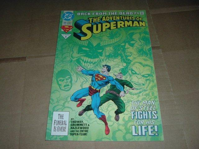 Adventures of Superman #500 Regular Edition (DC Comics 1993).Superman's Return from Death