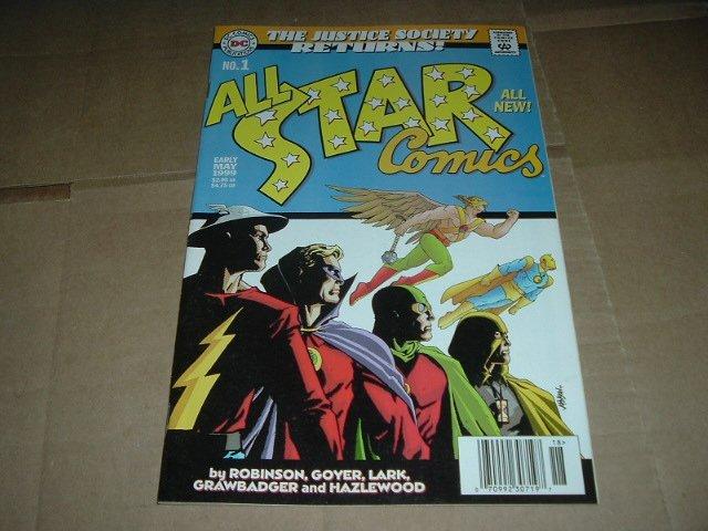 All-Star Comics #1 Light Blue Variant JAMES ROBINSON Return of JSA Justice Society DC Comic 1999