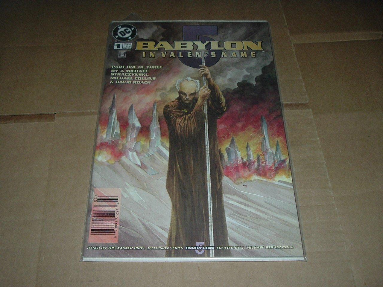 J. Michael Straczynski:  Babylon 5 - In Valen's Name #1 UNREAD VF+ (DC Comics 1998) First Print