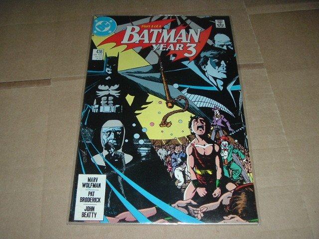 Batman #436 Intro Tim Drake, Origin of Robin Grayson (DC Comics 1989) Save $ Shipping Special