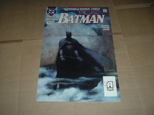 Batman Annual #15 FIRST PRINT Armageddon 2001 The Last Batman Story Graphic Novel (DC Comics 1991)
