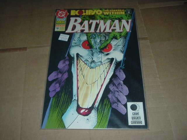 Batman Annual #16 NEAR MINT vs. Joker, Eclipso The Darkness Within Graphic Novel GN (DC Comics 1992)