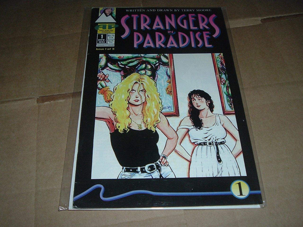 Strangers in Paradise #1 (Vol. 1) Original Mini-series, VERY FINE Terry Moore (Antarctic Press 1993)