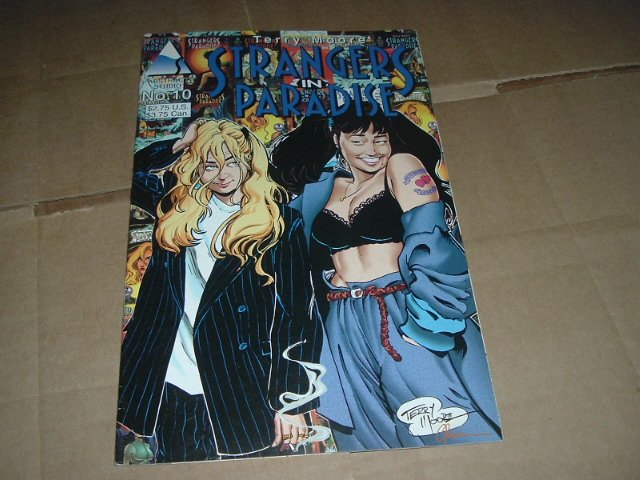 Strangers in Paradise #10 (vol. 2) VERY FINE- Terry Moore (Abstract Studio) Save $$ Shipping Special