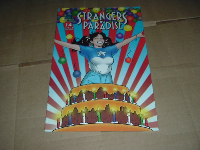 Strangers in Paradise #14 (vol. 3) ORIGIN, VF-, High School Part 2, Terry Moore (Abstract Studio)