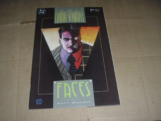 Batman: Legends of the Dark Knight #28 VERY FINE+, Faces part 1 by Matt Wagner (DC Comics 1992)