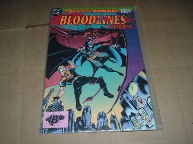 Batman Shadow of the Bat Annual #1 VF+ BLOODLINES, Introducing Joe Public (DC Comics 1993) special