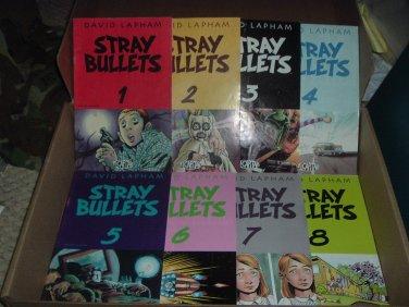 Stray Bullets #1-16 COMPLETE FULL RUN SET (David Lapham, El Capitan Books) comics for sale