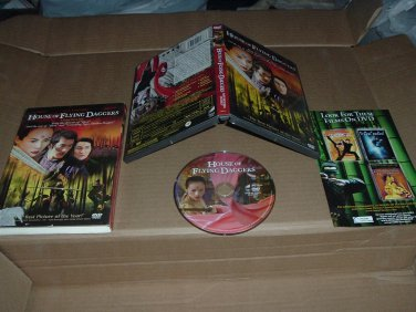House of Flying Daggers COMPLETE IN CASE & BOX (DVD, 2003) Chinese martial arts movie for sale