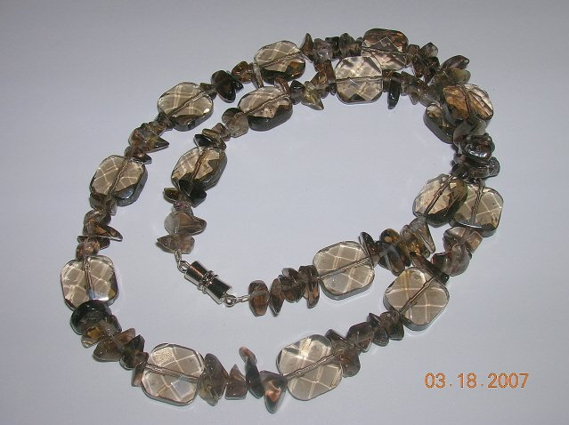 Smoky Quartz Necklace. Very Pretty.