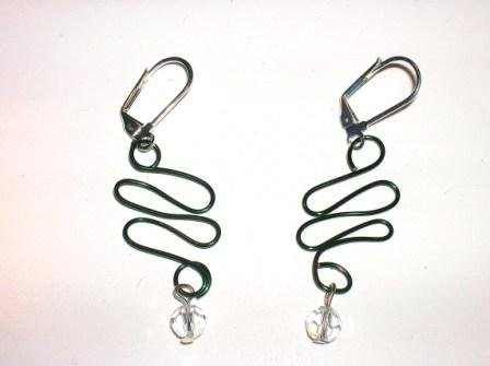 Green Serpent Earrings