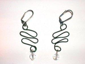 Green Serpent Earrings