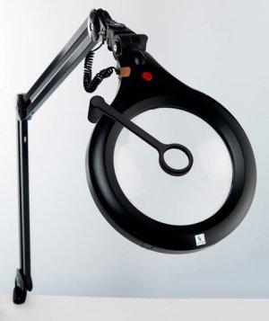 "Daylight Ultra-Slim 7"" ESD Safe Magnifier Lamp Black 22091"