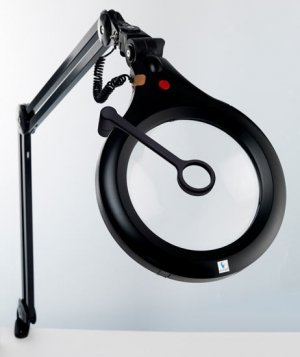 Daylight Ultra Slim ESD Safe Magnifying Lamp Black