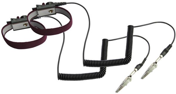 ESD Safe Anti Static Wrist Strap 2 pcs 6ft cord Maroon