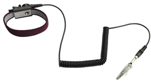 ESD Safe Anti Static Wrist Strap 6ft Ground Cord Maroon