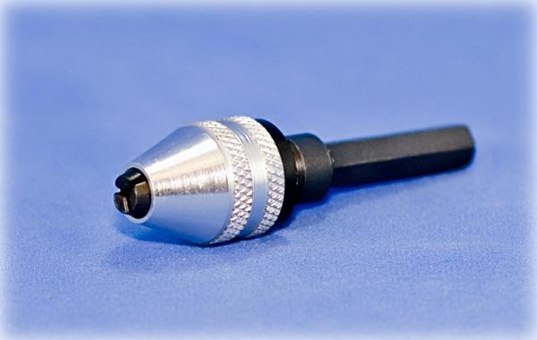 """Mini Keyless Chuck 1/4"""" Shank For Micro Drill Bits"""