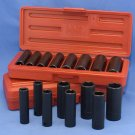 "Impact Socket Set 3/8"" Deep Well SAE MM COMBO 18 pcs"