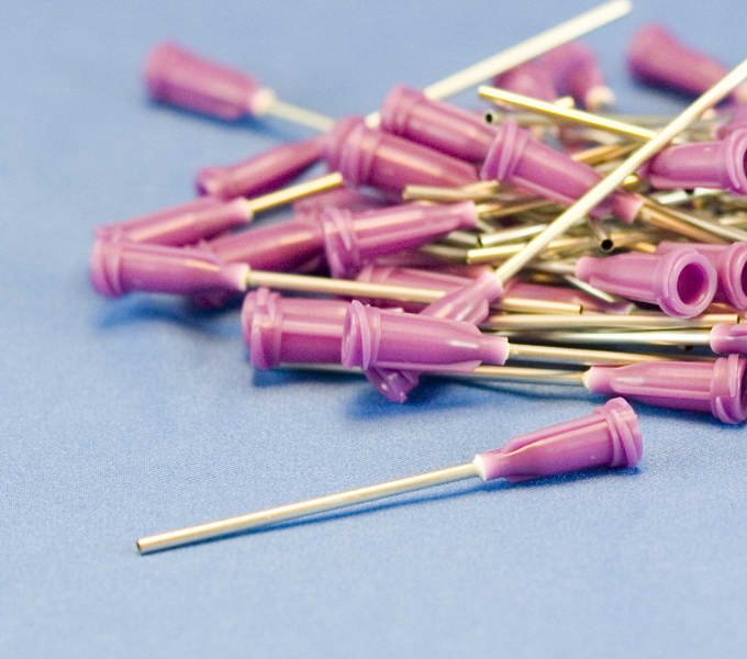 """Dispensing Needle 16ga 0.053id x 1-1/2"""" Tip Purple 50pc"""