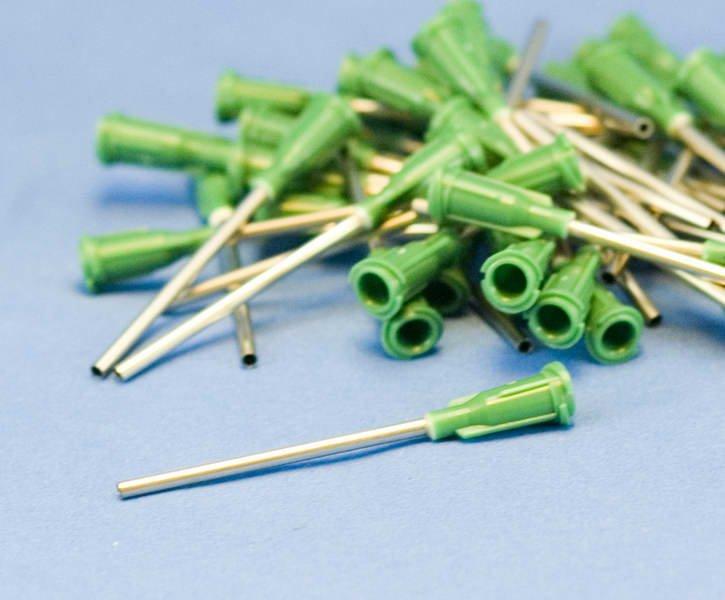 """Dispensing Needle 14 ga 0.069id x 1-1/2"""" Tip Green 50pc"""