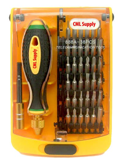 Precision Screwdriver Security Bit Set Extension 38pcs