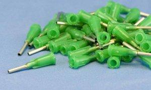 """Dispensing Needle 14 ga 0.069id x 1/2"""" Tip Green 50 pc"""