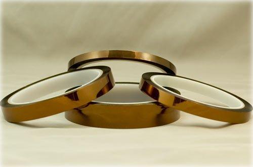 "Gold Kapton Tape Polyimide High Temp 1-1/2"" x36yds 19mm"